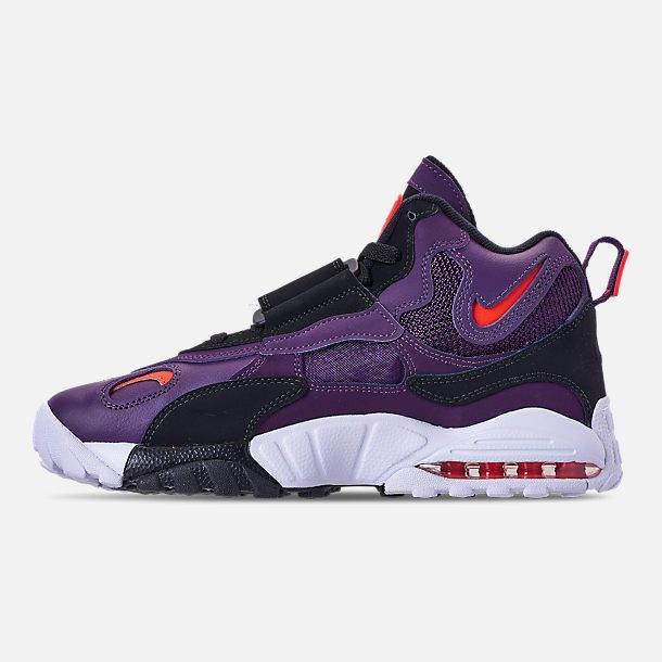 57ed5fe08c Left view of Men's Nike Air Max Speed Turf Training Shoes in Night  Purple/Bright Crimson/White/Black