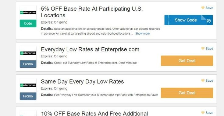 enterprise coupon code 2019 5 OFF Base Rate At