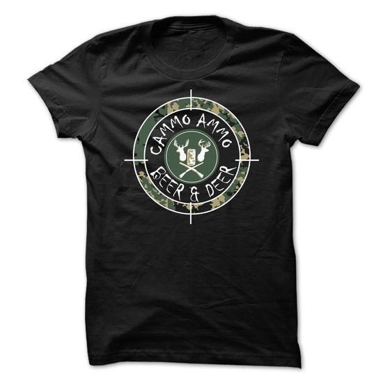 Awesome Tee Camo Ammo Beer & Deer Shirts & Tees