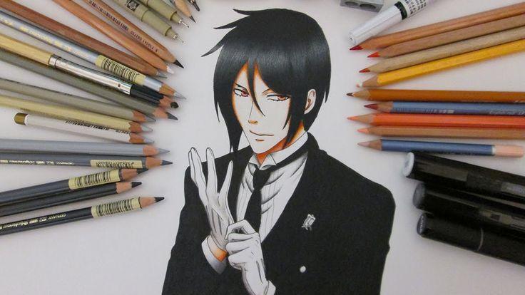 Speed Drawing Sebastian Michaelis    Black Butler - Kuroshitsuji