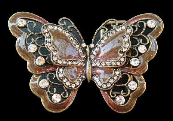 Brown Rhinestones Glitter Monarch Butterfly Butterflies Insect Belt Buckle Buckles #butterfly #butterflies #butterflybuckle #butterflybeltbuckles #brownbutterfly #prettybutterfly #beltbuckle #classy #buckles