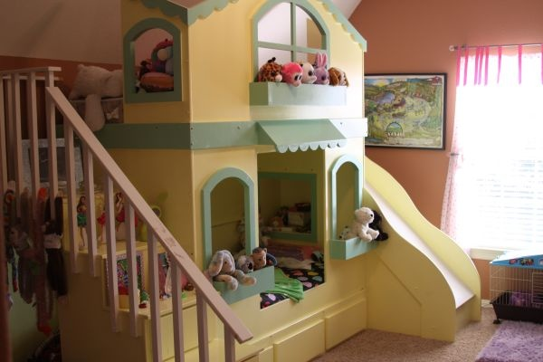 so cute! twin bunk bed cottage | Beds | Twin bunk beds ...