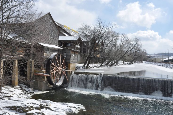 The Old Mill in Pigeon Forge looks especially beautiful covered in snow!