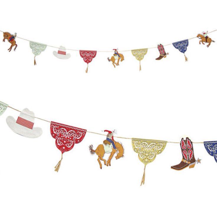 Cowboy Thema - www.confettienco.be #decoratie #verjaardag #feest #cowboy #slinger #webshop