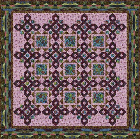 Diamond Rhapsody Designer Pattern: Robert Kaufman Fabric Company