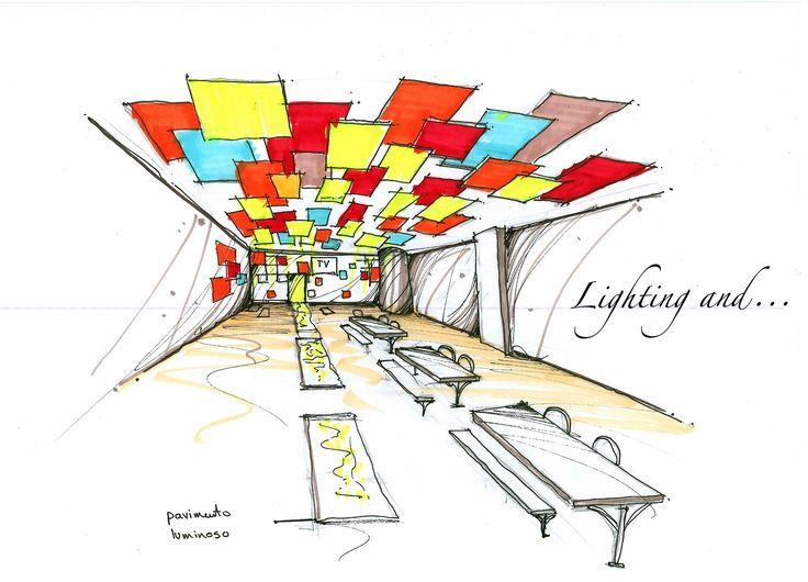 Fast hand sketch to present our ideas at the moment for the interior design. #sketch #schizzo #luce #light #dessiner #design #disegno #colors #colori #conception #lumière #handsketch #milano #italia #italy #color #colori #chiesa #oratorio #lightingand #fast #veloce