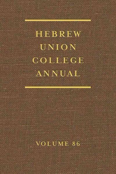 Hebrew Union College Annual