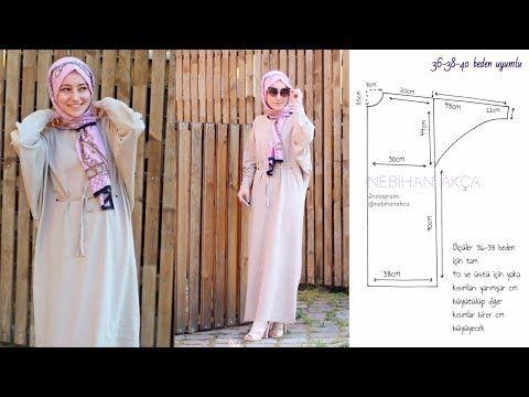 YENİ BAŞLAYANLARA: Pratik Maksi Elbise Kesimi ve Dikimi - YouTube