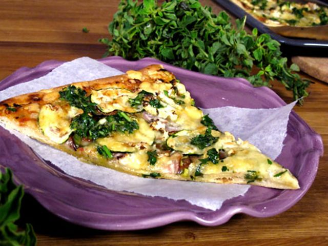 Vegetarisk skördepizza (kock Lisa Lemke)