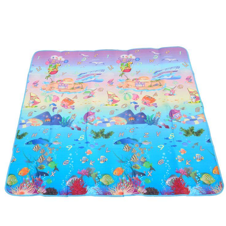 EVA водонепроницаемый Детский мультфильм утолщение ползать коврик Кемпинг коврик для пикника пляж коврик одеяло сверхлегкий складной палатки кровать