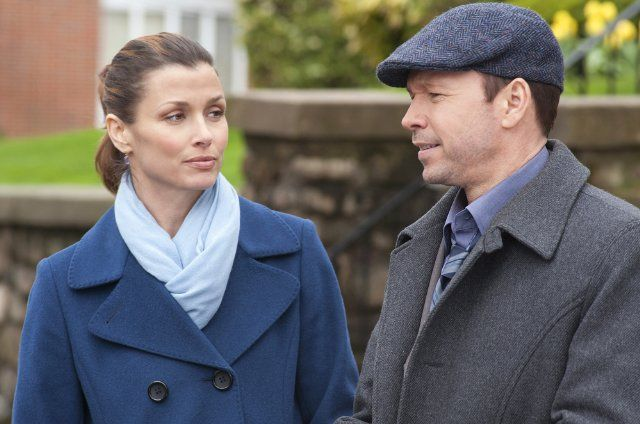 Bridget Moynahan (Assistant District Attorney Erin Reagan) and Donnie Wahlberg (Detective Danny Reagan) in Blue Bloods