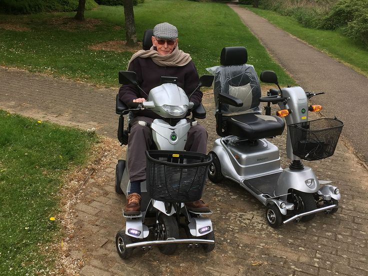 Mr Dodds looking very dapper on the Vitess2 mobility scooter find out with a free demo which Quingo is the one for you