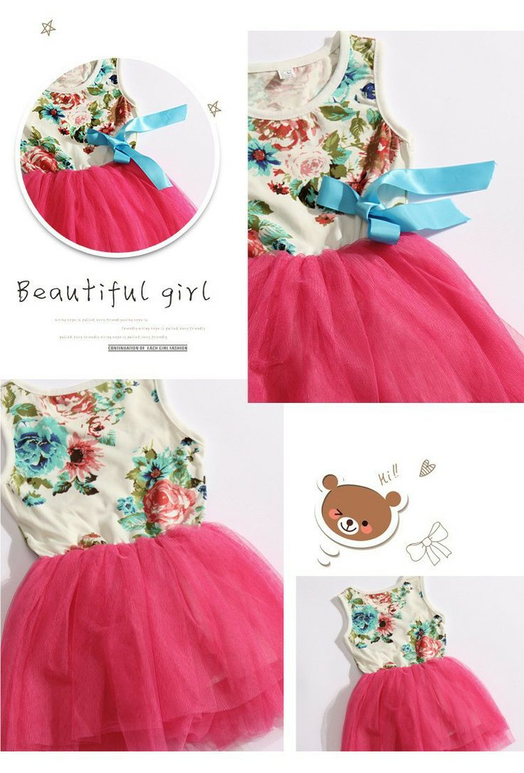 Baby jurken voor meisjes baby kleding katoen mouwloze tutu jurk met linten mooie zomer kleding bloem gedrukt
