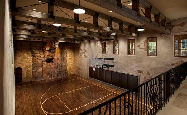 15 Ideas For Indoor Home Basketball Courts Home Basketball Court Indoor Basketball Indoor Basketball Court