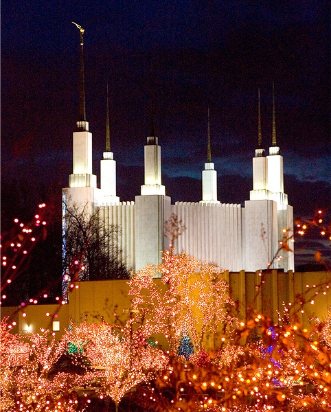 Mormon Temple Dc Christmas Lights