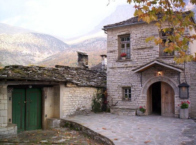 stone house in Megalo Papingo village - Zagoroxoria, Greece