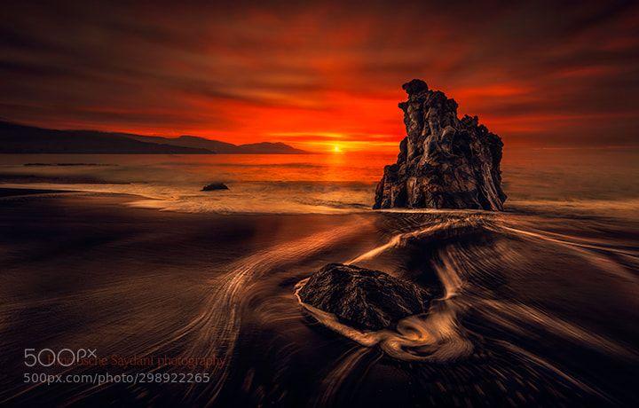 Aco Seasunset Landscapes By Oscar Romero Cool Landscapes Landscape Beach Rocks