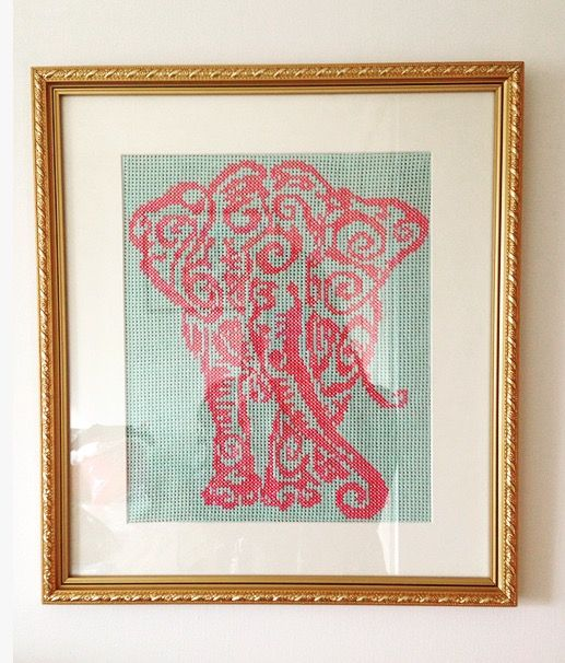 Elephant crosstitch pattern