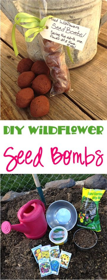 DIY Wildflower Seed Bombs Tutorial! ~CAN MAKE VEGETABLE BOMBS FOR DEER AMD OTHER WILDLIFE!  at TheFrugalGirls.com ~ these make such fun gifts, too! #gardening