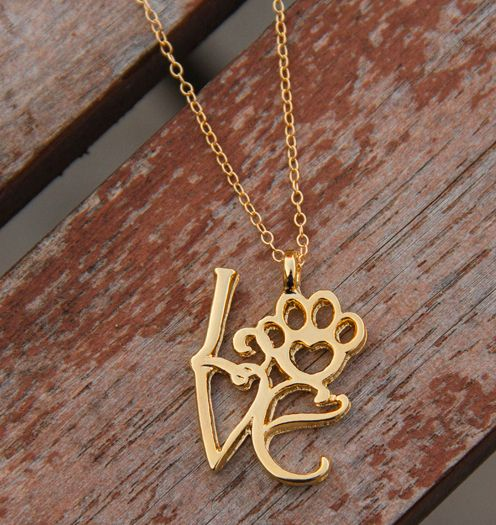 Love love love this! Great way to show your love for a dog or cat! (silver available too)