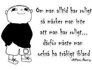 Alfons kloka ord.
