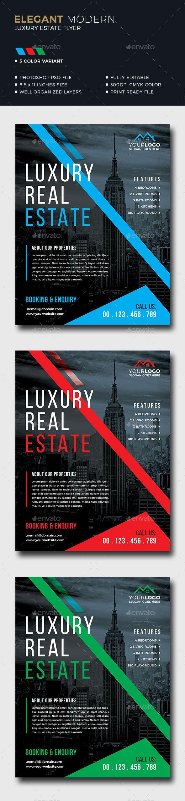#Real #Estate #Flyer - Corporate Flyers Download here: https://graphicriver.net/item/real-estate-flyer/20288433?ref=alena994