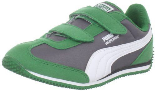 PUMA Whirlwind V Fashion Sneaker (Toddler/Little Kid/Big Kid) Puma. $34.00. Non-marking outsole. Fabric. Removable kinder fit sockliner. Rubber sole