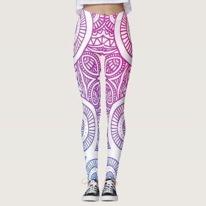 #Gradient Classic Mandala Yoga Leggings - #cute #gifts #cool #giftideas #custom