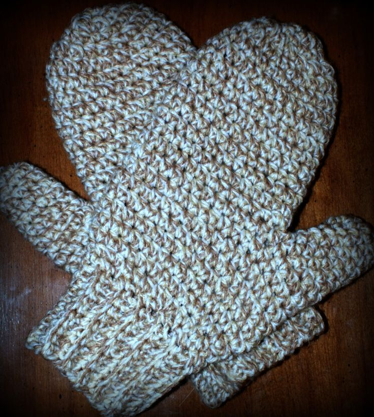 Oombawka Design: Daddy's Simply Easy Mittens - Free Crochet Pattern, Copyright 2013, Oombawka Design