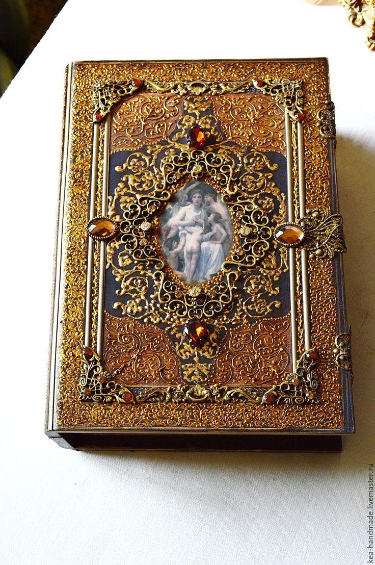 """Купить Фолиант """"Ангелы среди нас"""" - золотой, фолиант, книга пожеланий, роскошный подарок, раритет"""