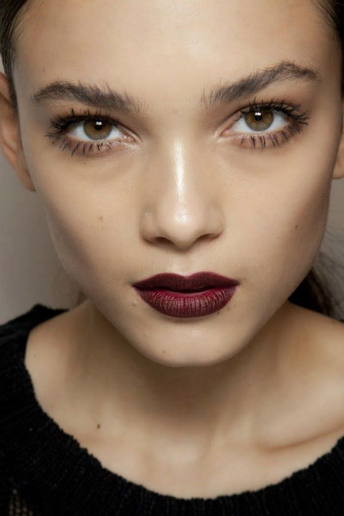 Dark lips are a strong beauty look—here's how to wear them all year long. // #lips