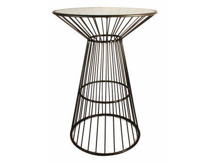 Kioshi Tall Side Table With Glass Top