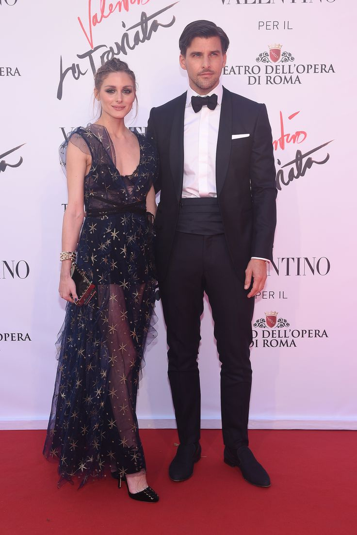 Olivia Palermo and Johannes Huebl wearing Valentino looks at the opening of 'La Traviata' on May 22th.
