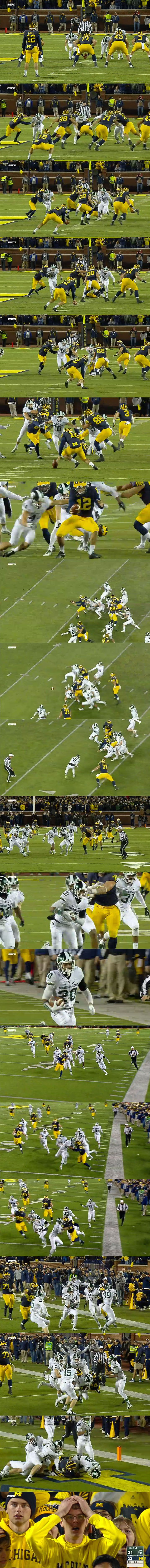 No one will ever forget the jaw-dropping finish to the Michigan vs. Michigan State game.