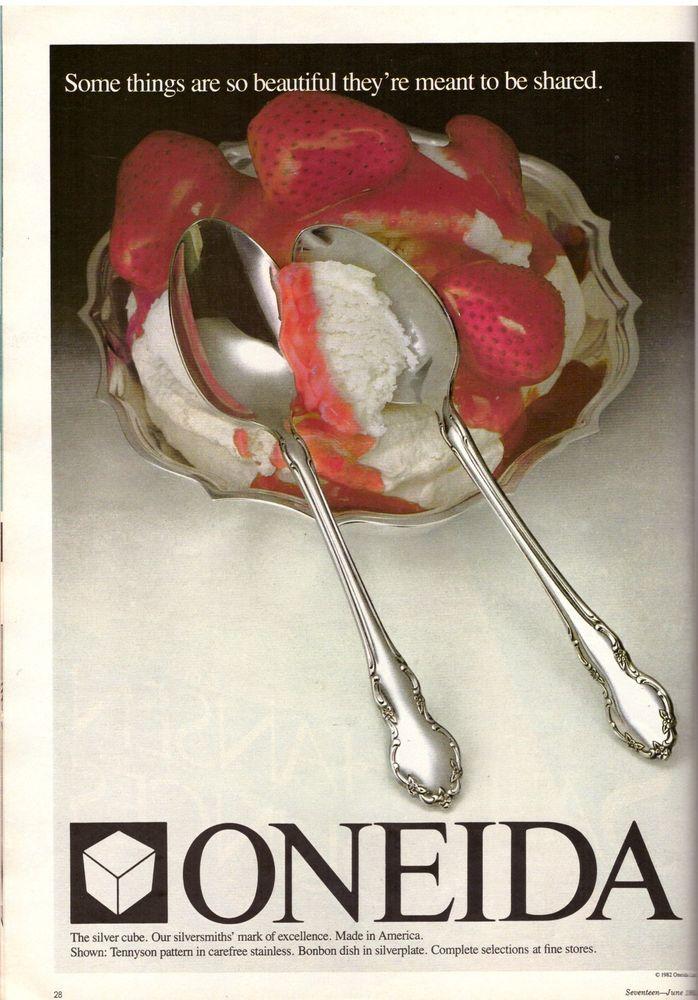 1984 Oneida Cutlery Silverware Retro Print Advertisement Ad Vintage VTG 80s   eBay
