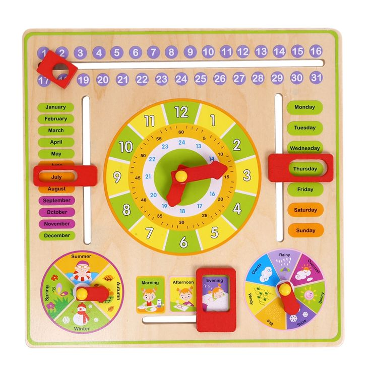13.14$ Buy now - Cognitive Calendar Clock Multifunction Children's ...