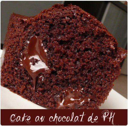 Cake au chocolat et pépites à la fleur de sel (de Pierre Hermé)