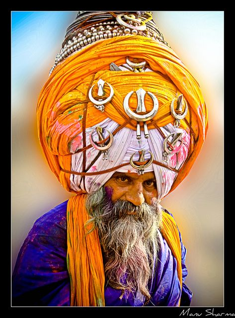 Nihangs(also: called Akalis) are a very famous and prestigious armed Sikh order.