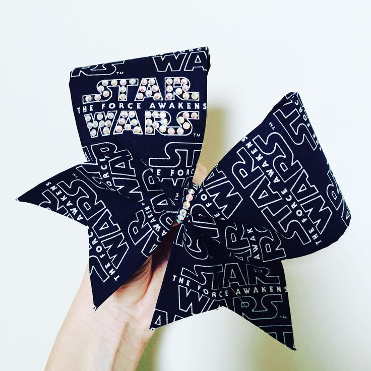 Star Wars BLING rhinestone cheer bow