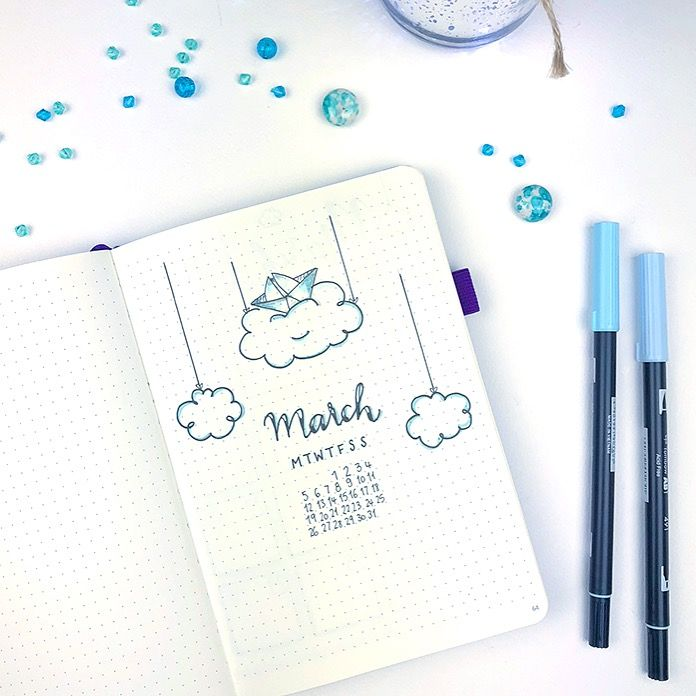 Plan With Me: Bullet Journal Setup March 2018