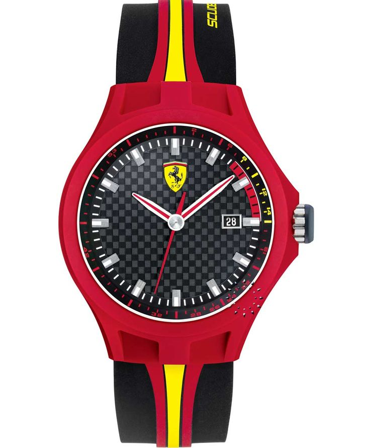 FERRARI Pit Crew Black Rubber Strap Τιμή: 109€ http://www.oroloi.gr/product_info.php?products_id=35037