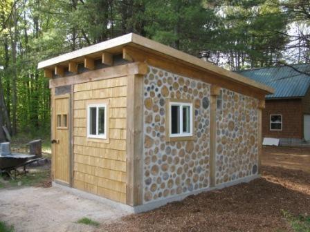 cord wood sauna Earthwood Building School