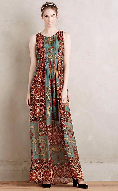 Mathilde Silk Maxi Dress #anthrofave