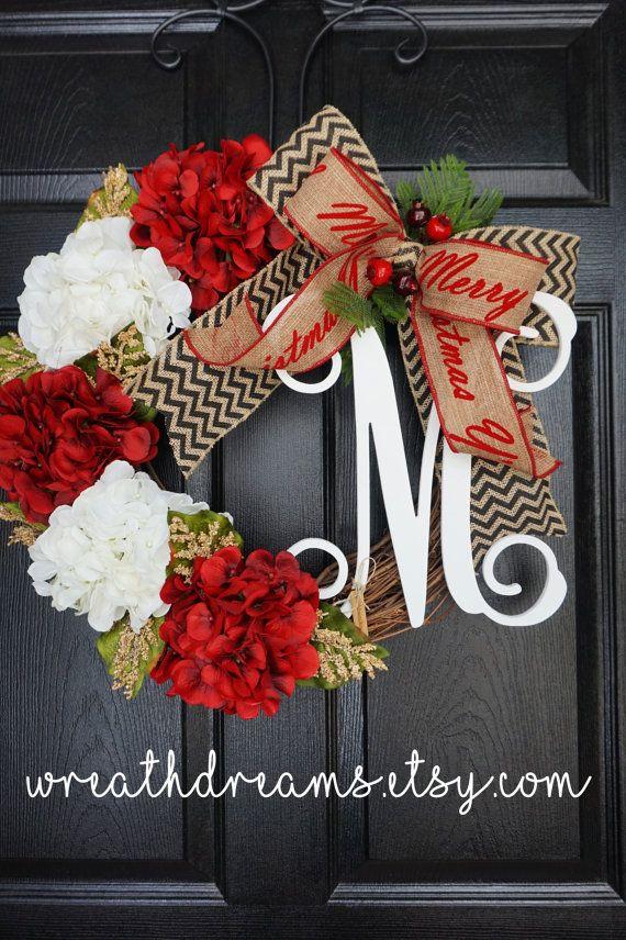 Navidad guirnalda de vid con arpillera. Guirnalda por WreathDreams
