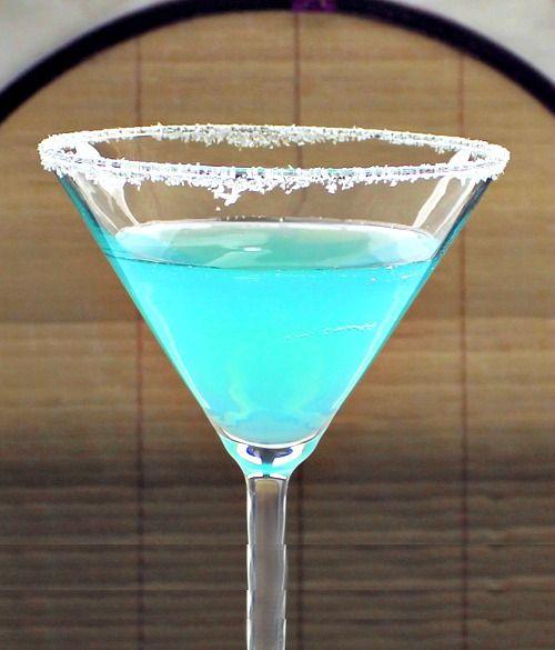 Blue Goose drink recipe - Hpnotiq, Grey Goose Vodka, Lime, Orgeat Syrup