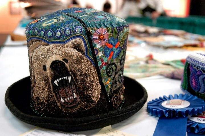 Photo archives. Santa Fe Indian Market...Beaded hat