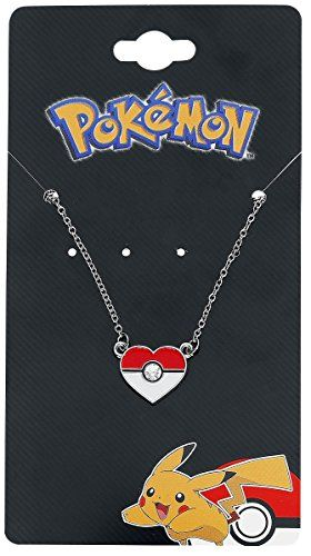 Pokemon Stainless Steel Pendant with Chain (Pokeball Heart) – Pokemon Jewelry