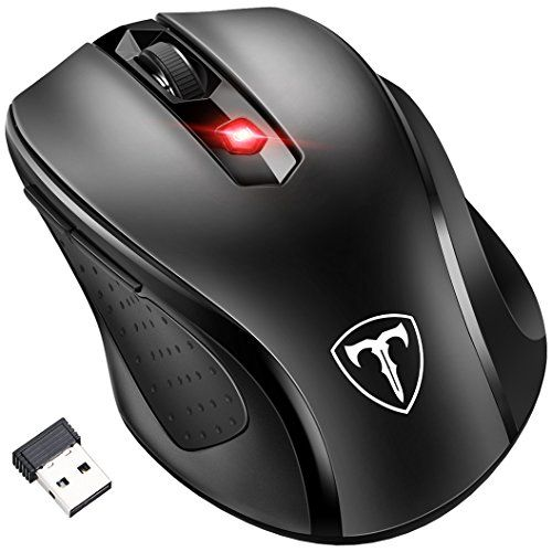 [updated Version] Wireless Mouse Patuoxun 2.4g Usb Wireless Mice Optical Pc Laptop Computer Mouse With Nano Receiver 6 Buttons 2400 Dpi 5 Adjustment Levels For Windows Mac Macbook Linux - Super Energey Saving