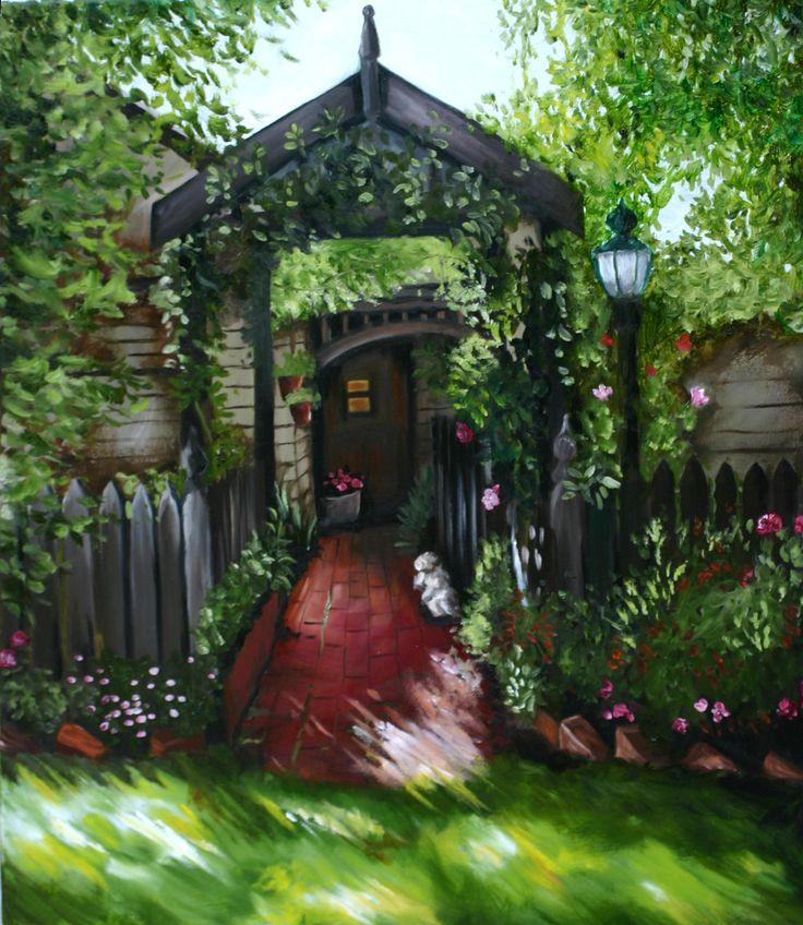 Mother's Garden - Oil Painting by Julie Sneeden