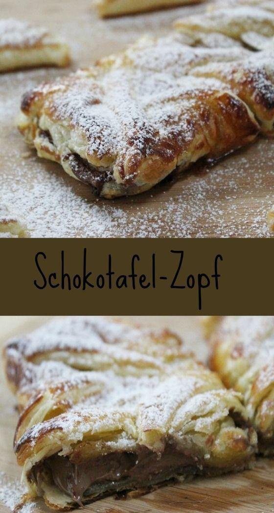 Leckerer Schokostrudel mit einer ganzen Tafel Schokolade #zopf #Food #Recipe #chocolate #Strudel #Schokostrudel http://www.the-inspiring-life.com/2015/12/schokotafel-zopf.html